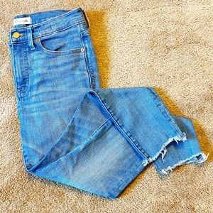 Madewell Blue Wash Ankle Cropped Cut Off Jeans